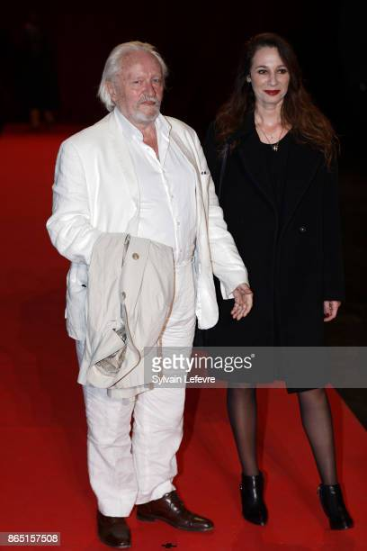 Niels Arestrup and his wife Isabelle Le Nouvel attend the photocall of the closing ceremony of 9th Film Festival Lumiere on October 22 2017 in Lyon...