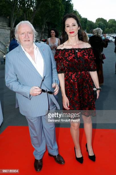 Niels Arestrup and Isabelle Le Nouvel attend Line Renaud's 90th Anniversary on July 2 2018 in Paris France