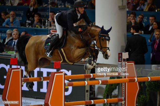 Niels Bruynseels of Belgium riding Gancia de Muze during the Longines FEI Jumping World Cup Verona 2018 CSI5*W on October 28 2018 in Verona Italy