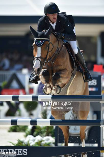 Niels Bruynseels of Belgium riding Gancia de Muze during the Longines Grand Prix Athina Onassis Horse Show on June 3 2017 in St Tropez France