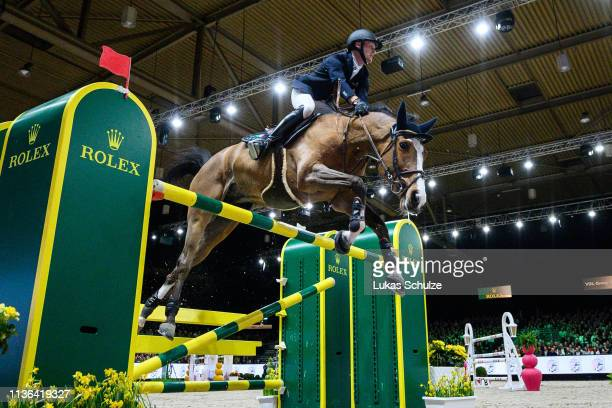'SHERTOGENBOSCH NETHERLANDS MARCH 17 Niels Bruynseels rides Gancia de Muze during the The Dutch Masters Rolex Grand Slam of Showjumping at...
