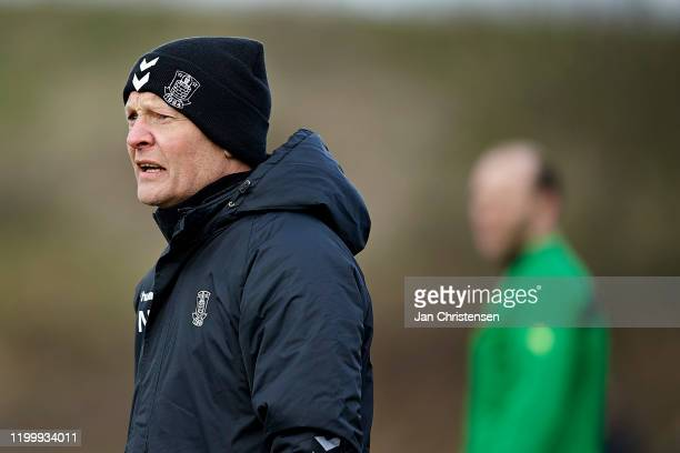 Niels Frederiksen, head coach of Brondby IF in action during the testmatch between Brondby IF and SonderjyskE at Brondby Stadion on February 10, 2020...