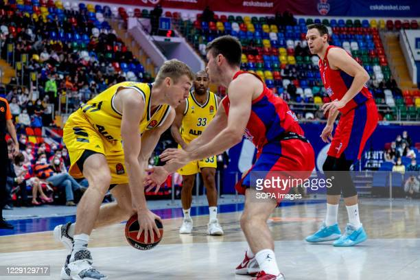 Niels Giffey #5 of Alba Berlin in action against CSKA Moscow during the Turkish Airlines EuroLeague Round 4 of 20202021 season at the Megasport Arena...