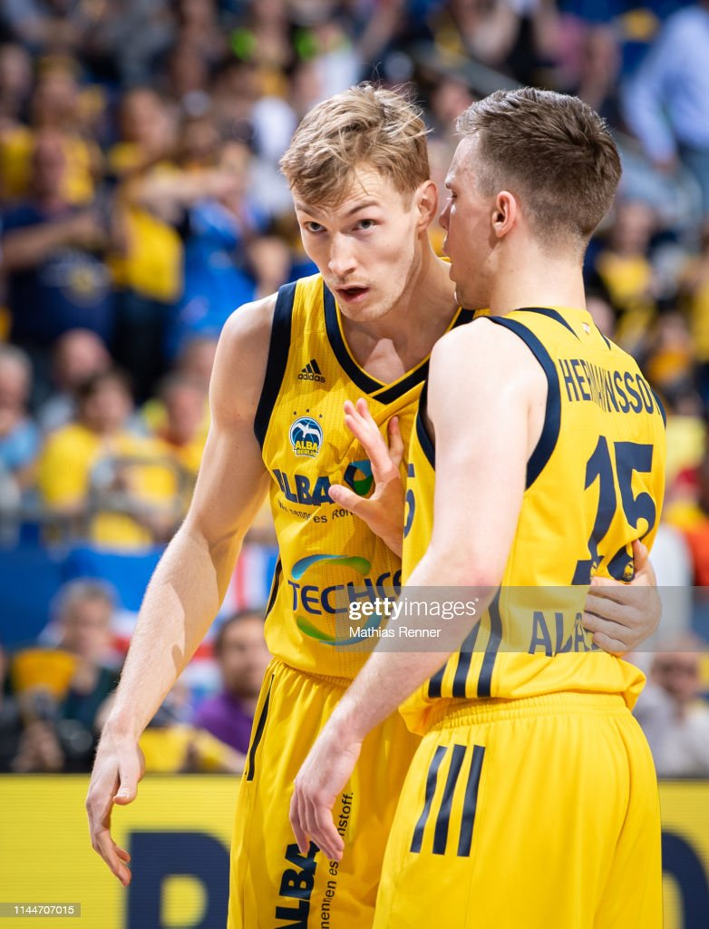 Niels Giffey And Martin Hermannsson Of Alba Berlin During The News Photo Getty Images