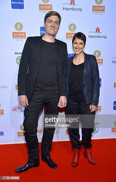 Niels Klein and Girlfriend attend the Echo Jazz 2015 at the dockyard of BlohmVoss on May 28 2015 in Hamburg Germany