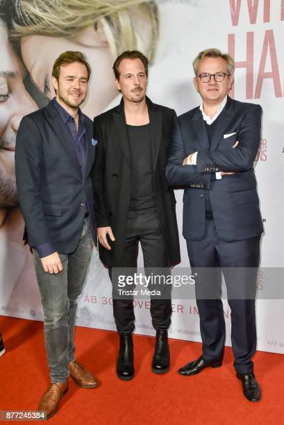 Niels Laupert Michael Kamm and Benjamin Grosch during the premiere of 'Whatever happens' at Astor Film Lounge on November 21 2017 in Berlin Germany