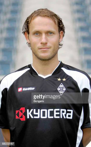 Niels Oude Kamphuis poses during the team presentation of Borussia Monchengladbach for the Bundesliga season 2005 2006 on July 7 2005 in...