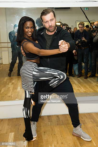 Niels Ruf and Oti Mabuse pose at a photo call for the television competition 'Let's Dance' on March 2 2016 in Berlin Germany On March 11th the show...
