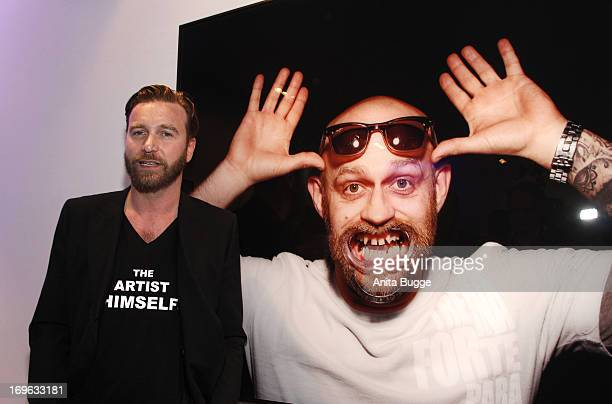 Niels Ruf attends the opening of the 'Niels Ruf Art Exhibition' at Camera Works on May 29, 2013 in Berlin, Germany.