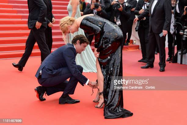 Niels Schneider and Virginie Efira attend the screening of Sibyl during the 72nd annual Cannes Film Festival on May 24 2019 in Cannes France