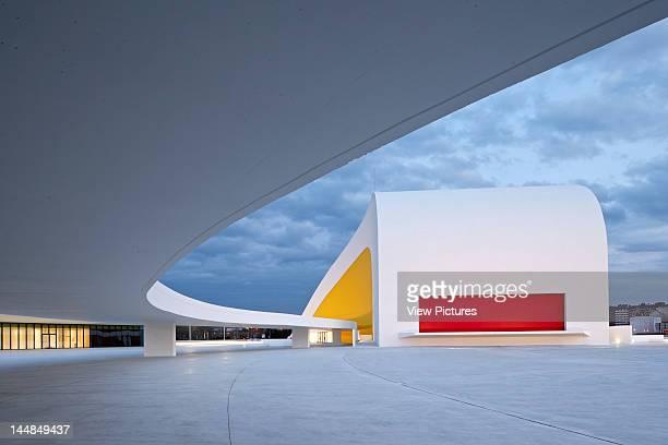Niemeyer CenterAvilés Asturias Spain Architect Oscar Niemeyer Niemeyer Center In Aviles Spain By Oscar Niemeyer Evening View Of Auditorium