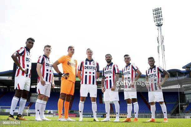 nieuwe spelers willem II Driess Saddiki James McGarry Michael Woud Thomas Meissner Dimitris Kolovos Atakan Akkaynak Pol Llonch during the team...