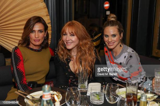Nieves Alvarez and Charlotte Tilbury and Vanessa Romero attend the Temperley London SS19 after party hosted by Alice Temperley and Amy Sacco at...