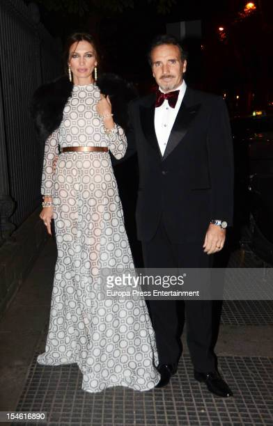 Nieves Alvarez and Marco Severini attend 'Cartier Exhibition' gala presentation at Thyssen Museum on October 22 2012 in Madrid Spain