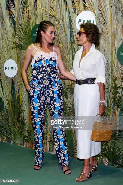 Nieves Alvarez and Nati Abascal attend 'NV' fashion show during FIMI at Pabellon de Cristal on June 23 2017 in Madrid Spain