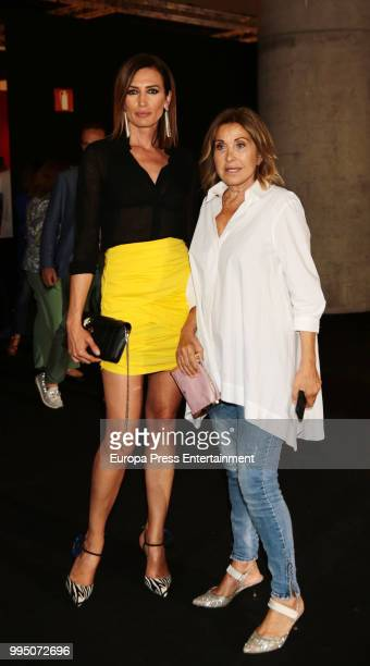 Nieves Alvarez and Purificacion Garcia attend the homage to Jesus Maria MontesFernandez show at Mercedes Benz Fashion Week Madrid Spring/ Summer 2019...