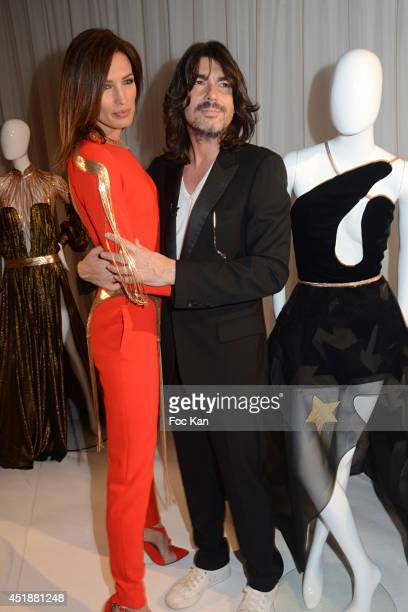 Nieves Alvarez and Stephane Rolland attend the Stephane Rolland Show as part of Paris Fashion Week - Haute Couture Fall/Winter 2014-2015 at Cinema...