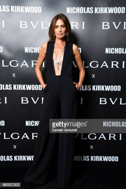 Nieves Alvarez attends a party celebrating 'Serpenti Forever' By Nicholas Kirkwood for Bvlgari on September 20 2017 in Milan Italy