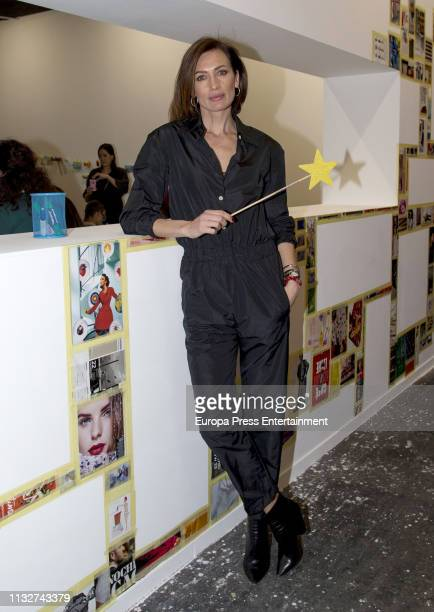 Nieves Alvarez attends ARCO Art Fair Madrid 2019 at Ifema on February 27 2019 in Madrid Spain