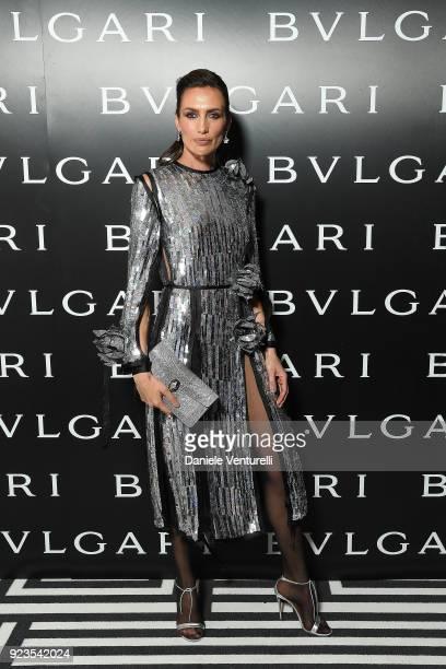 Nieves Alvarez attends Bulgari FW 2018 Dinner Party on February 23 2018 in Milan Italy