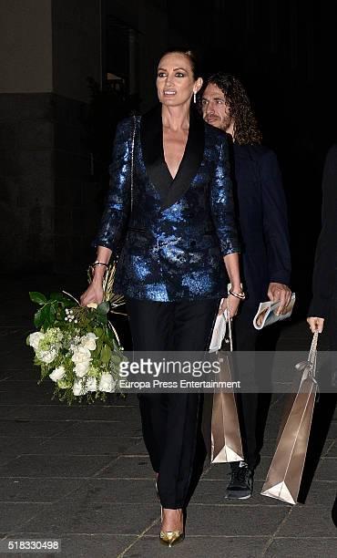 Nieves Alvarez attends BvlgariHarper's Bazaar party at Reina Sofia Museum on March 30 2016 in Madrid Spain