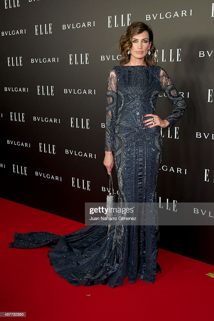 Nieves Alvarez attends 'Elle Style Awards 2014' photocall at Italian Embassy on October 23, 2014 in Madrid, Spain.