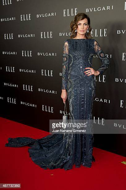 Nieves Alvarez attends 'Elle Style Awards 2014' photocall at Italian Embassy on October 23 2014 in Madrid Spain