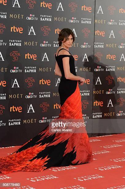 Nieves Alvarez attends Goya Cinema Awards 2016 at Madrid Marriott Auditorium on February 6 2016 in Madrid Spain