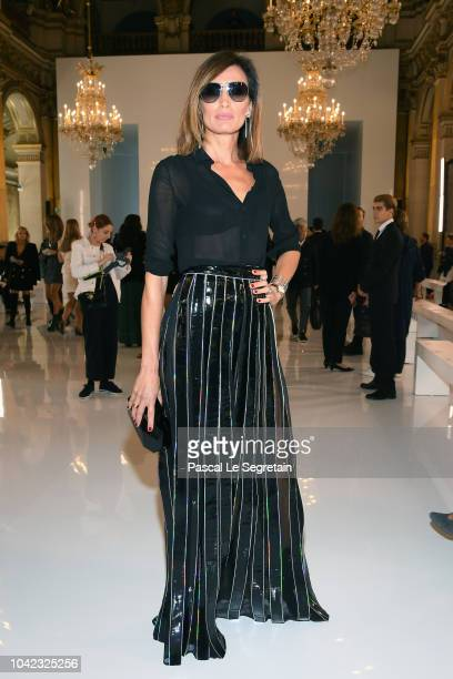 Nieves Alvarez attends the Balmain show as part of the Paris Fashion Week Womenswear Spring/Summer 2019 on September 28 2018 in Paris France
