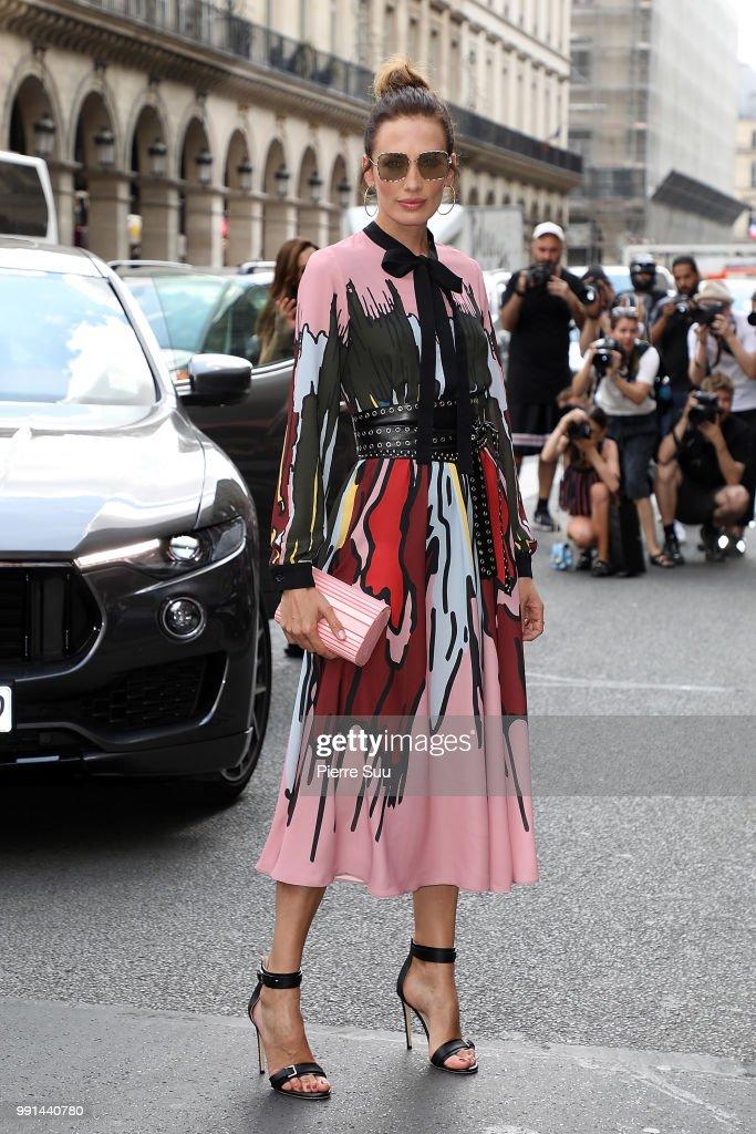 FRA: Elie Saab : Outside Arrivals - Paris Fashion Week - Haute Couture Fall Winter 2018/2019