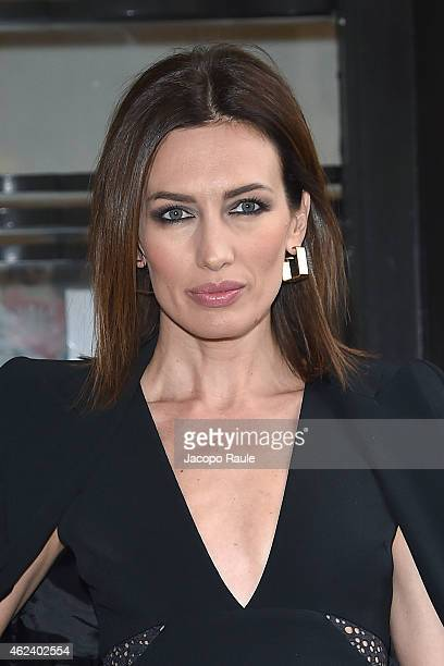 Nieves Alvarez attends the Elie Saab show as part of Paris Fashion Week Haute Couture Spring/Summer 201 on January 28 2015 in Paris France