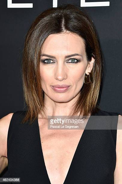 Nieves Alvarez attends the Elie Saab show as part of Paris Fashion Week Haute Couture Spring/Summer 2015 on January 28 2015 in Paris France