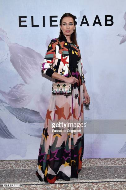 Nieves Alvarez attends the Elie Saab show as part of the Paris Fashion Week Womenswear Fall/Winter 2017/2018 on March 4 2017 in Paris France