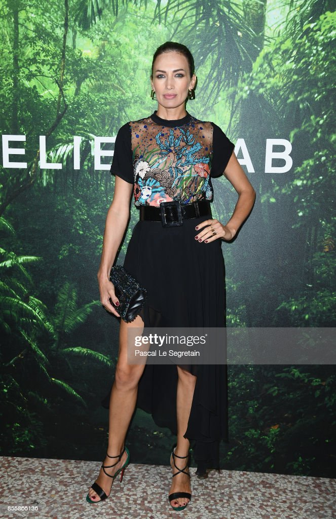 Nieves Alvarez attends the Elie Saab show as part of the Paris Fashion Week Womenswear Spring/Summer 2018 on September 30, 2017 in Paris, France.