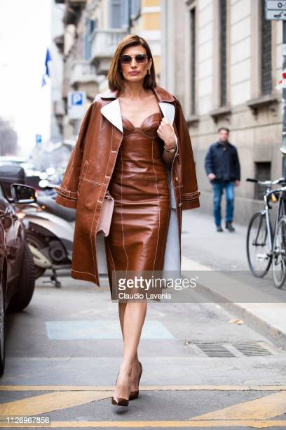 Nieves Alvarez attends the Ermanno Scervino show at Milan Fashion Week Autumn/Winter 2019/20 on February 23 2019 in Milan Italy