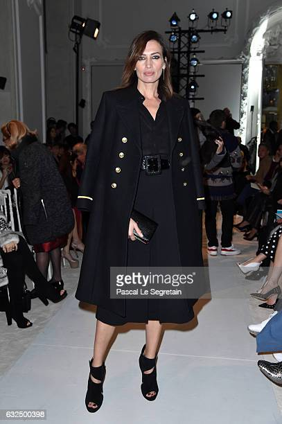 Nieves Alvarez attends the Giambattista Valli Haute Couture Spring Summer 2017 show as part of Paris Fashion Week on January 23 2017 in Paris France
