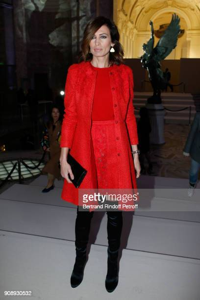 Nieves Alvarez attends the Giambattista Valli Haute Couture Spring Summer 2018 show as part of Paris Fashion Week on January 22 2018 in Paris France