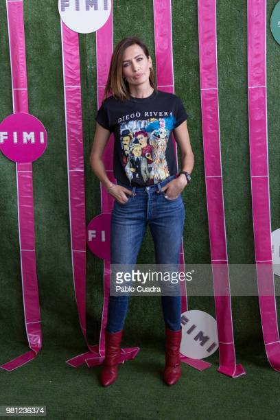 Nieves Alvarez attends the NV fashion show during FIMI Week Fashion Week on June 22 2018 in Madrid Spain
