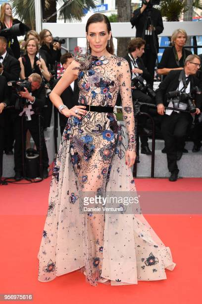 Nieves Alvarez attends the screening of Sorry Angel during the 71st annual Cannes Film Festival at Palais des Festivals on May 10 2018 in Cannes...