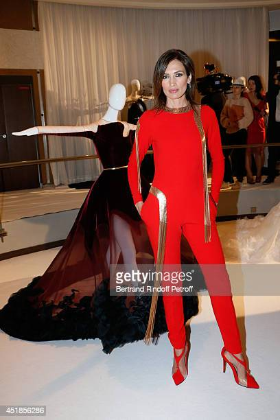 Nieves Alvarez attends the Stephane Rolland show as part of Paris Fashion Week Haute Couture Fall/Winter 20142015 Held at Cinema Elysee Biarritz on...