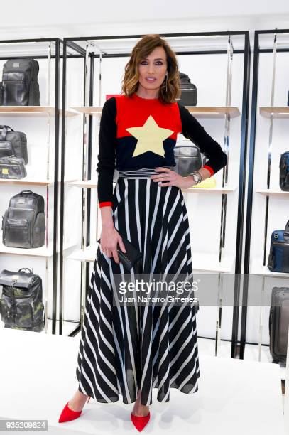Nieves Alvarez attends 'Tumi' inauguration on March 20 2018 in Madrid Spain