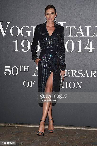 Nieves Alvarez attends Vogue Italia 50th Anniversary during Milan Fashion Week Womenswear Spring/Summer 2015 on September 21 2014 in Milan Italy