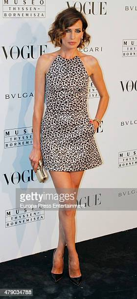 Nieves Alvarez attends 'Vogue Like a Painting' exhibition at ThyssenBornemisza museum on June 29 2015 in Madrid Spain