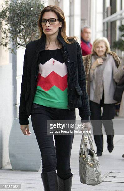 Nieves Alvarez is seen leaving Chopard store on February 14 2013 in Madrid Spain