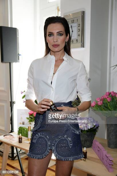 Nieves Alvarez is the new image for Sesderma at Club Alma Sensai on March 9 2017 in Madrid Spain