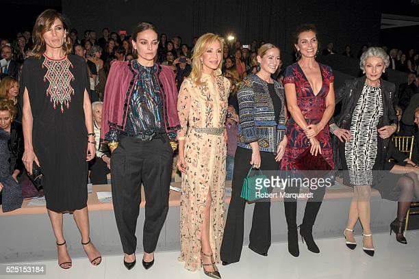 Nieves Alvarez Laura Ponte Carmen Lomana Fiona Ferrer and Mar Flores attend the Naeem Khan bridal collection show during Barcelona Bridal Week 2016...