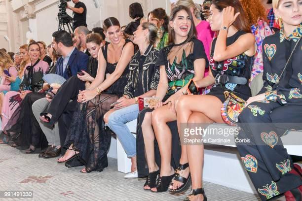 Nieves Alvarez Olivia Palermo Bianca Brandolini Helena Bordon Camila Coelho and Gala Gonzalez attend the Elie Saab Haute Couture Fall/Winter 20182019...