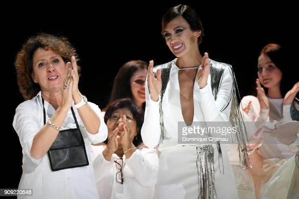 Nieves Alvarez on stage during the Stephane Rolland Haute Couture Spring Summer 2018 show as part of Paris Fashion Week on January 23 2018 in Paris...