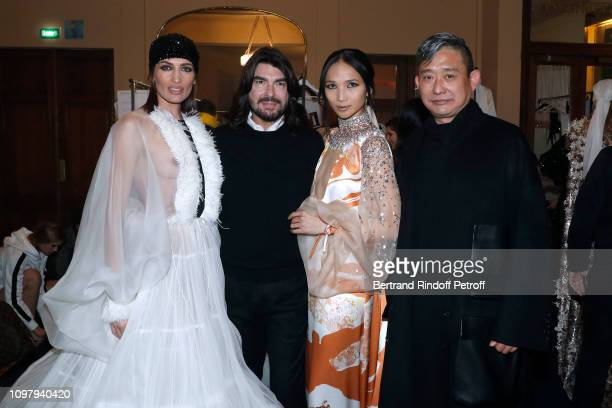 Nieves Alvarez Stylist Stephane Rolland Miss Yolanda aka Yolanda Wang and architect Song Dong attend the Stephane Rolland Haute Couture Spring Summer...