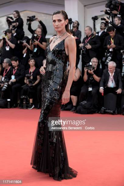 Nieves Alvarez walks the red carpet ahead of the Joker screening during the 76th Venice Film Festival at Sala Grande on August 31 2019 in Venice Italy